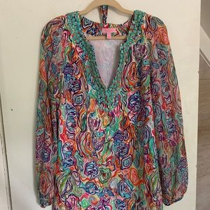 Lilly Pulitzer Floral Print Dress